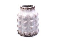34CJB TURTLE vase neck white H19 D15