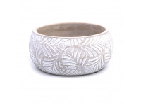 83GMB CEMENT LEAVES bowl D19,5 wh w